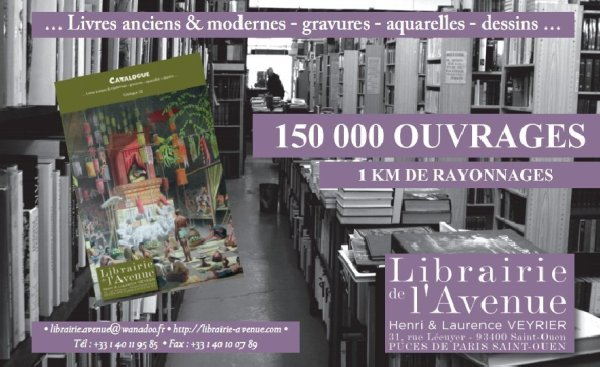 LIBRAIRIE DE L'AVENUE, Henir et Laurence Veyrier, Rue L�cuyer, March� aux puces de Saint Ouen, Puces de Saint Ouen, Flea Market Paris, antique books